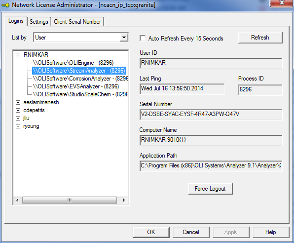 Administering the OLI License Manager 2 1